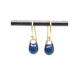 petite droplet earrings / midnight