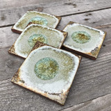 geode coaster set / copper