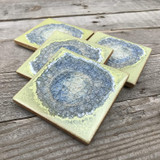 geode coaster set / pea