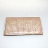 laser-etched leather wallet | rose gold