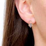 herkimer diamond staple stud