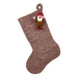 gnome christmas stocking