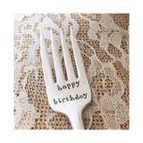 happy birthday vintage fork