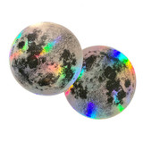 holographic moon stickers 3""