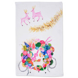 vintage christmas  tea towel
