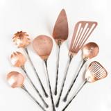 8 piece set with copper heads and hammered handles.