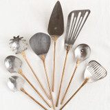 stainless steel + bronze  8 piece utensil set