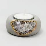 kunzite tealight holder