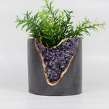 "amethyst + cement  3"" planter"