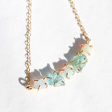 apatite + opal row necklace