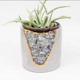 "fluorite + cement 5""  planter"