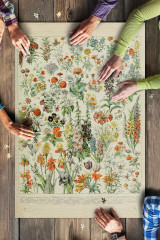 Assorted Flowers - A- Vintage Bookplate 1000 Piece Puzzle