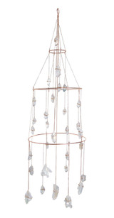 aura quartz chandelier