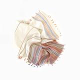 cotton linen striped scarf