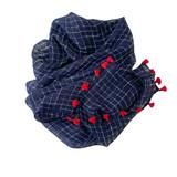 linen navy scarf