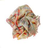 multi cotton silk scarf