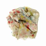 polka dot cotton silk scarf