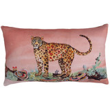 leopard in madder pillow