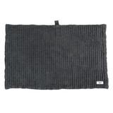 big waffle bath mat/ dark grey