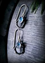 ceylon moonstone vine earrings