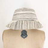 black skinny stripe bucket hat