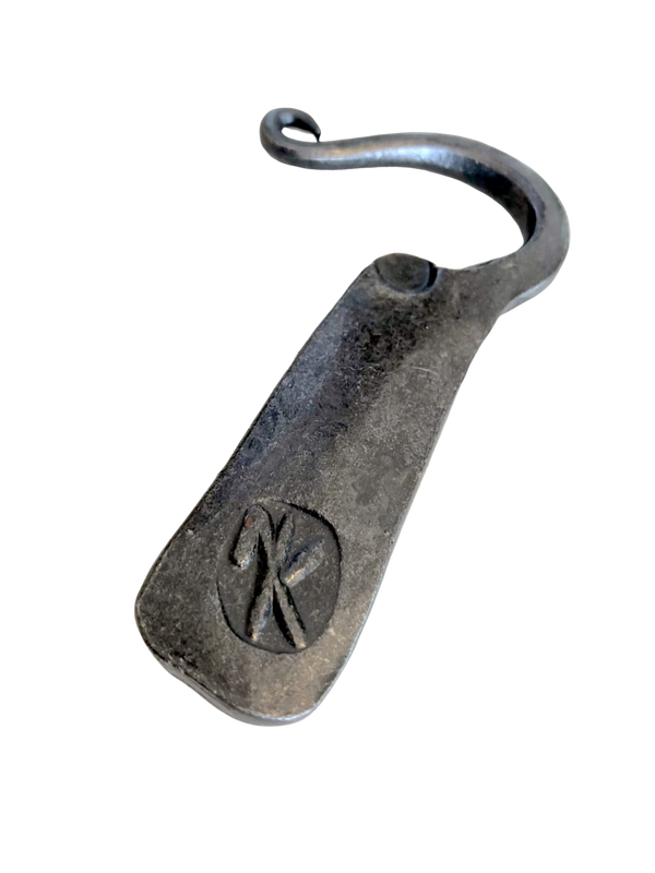 Made by a blacksmith in Upstate New York and are a curiosity to all. Functional bottle opener with a pleasing weight and feel.