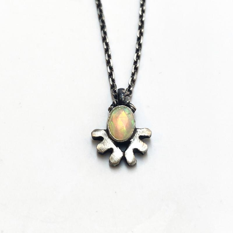 rose-cut opal necklace
