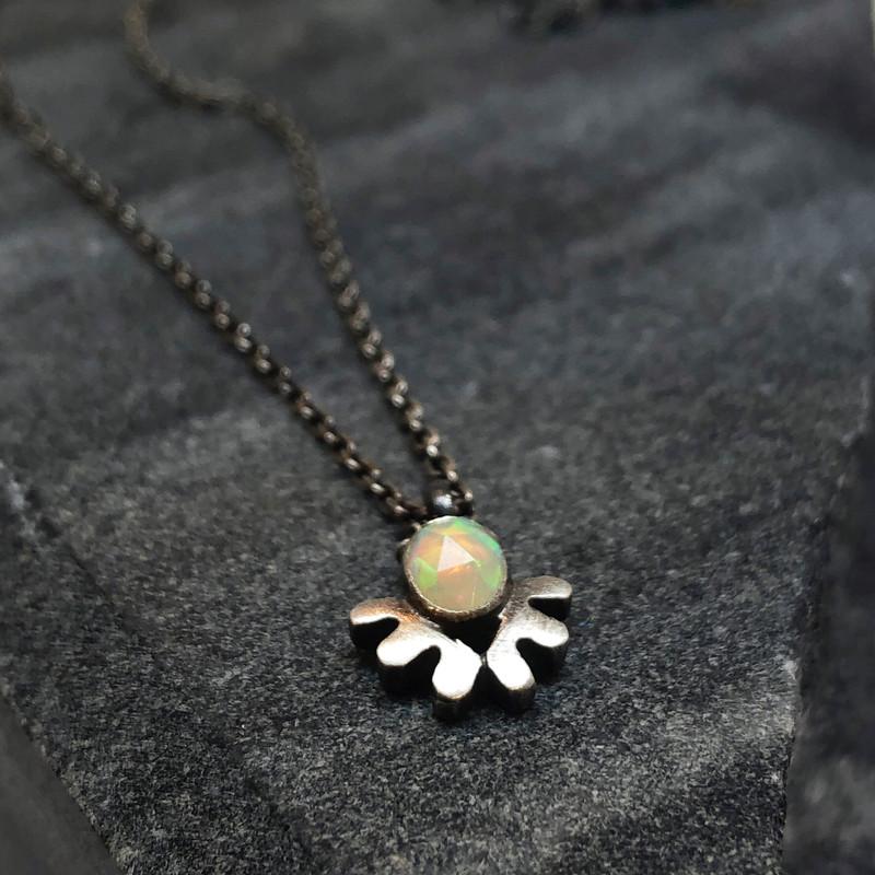 rose-cut opal