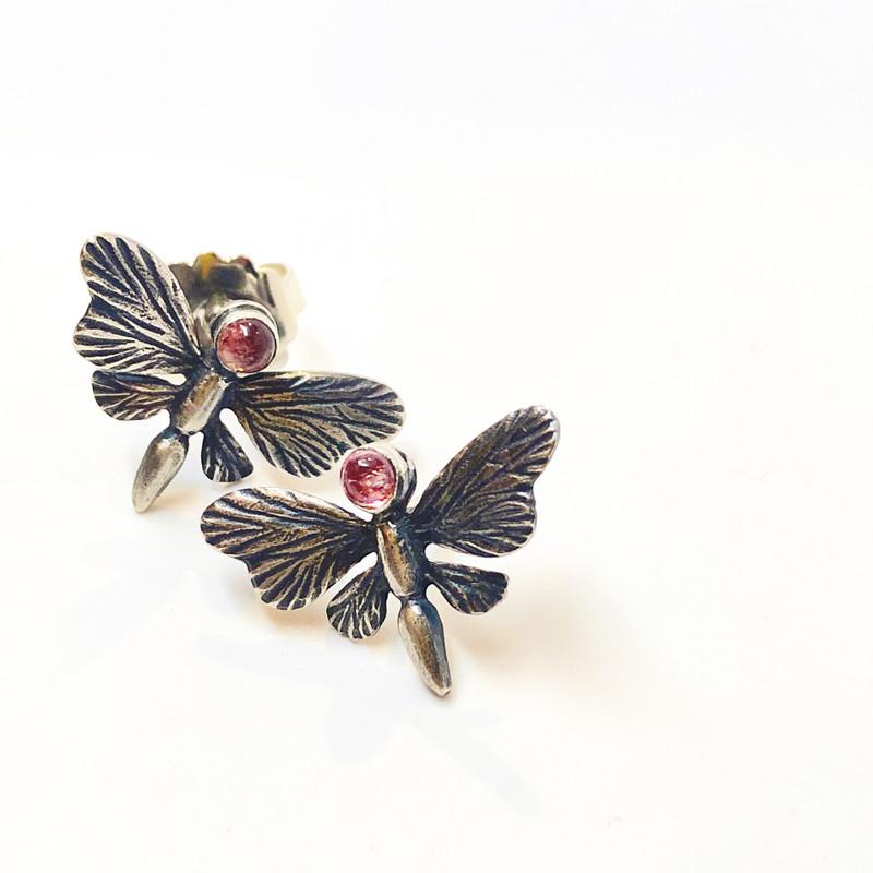 petite butterfly studs