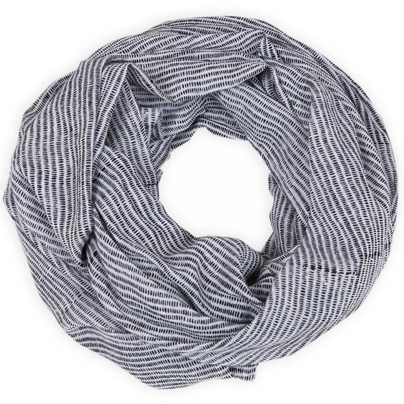 black striped block print scarf