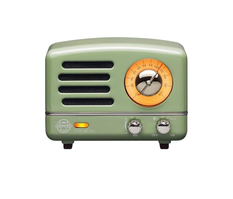 bluetooth speaker  + fm radio  - retro green
