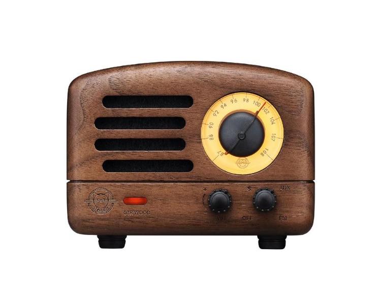 bluetooth speaker  + fm radio  - walnut