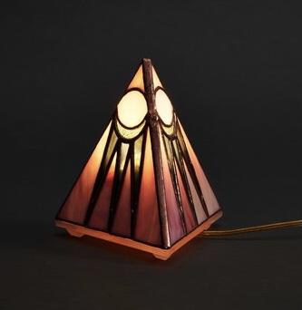 pink pyramid table lamp
