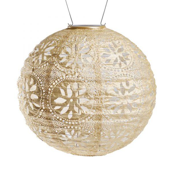 """soji stella boho globe solar lantern 12"""""""