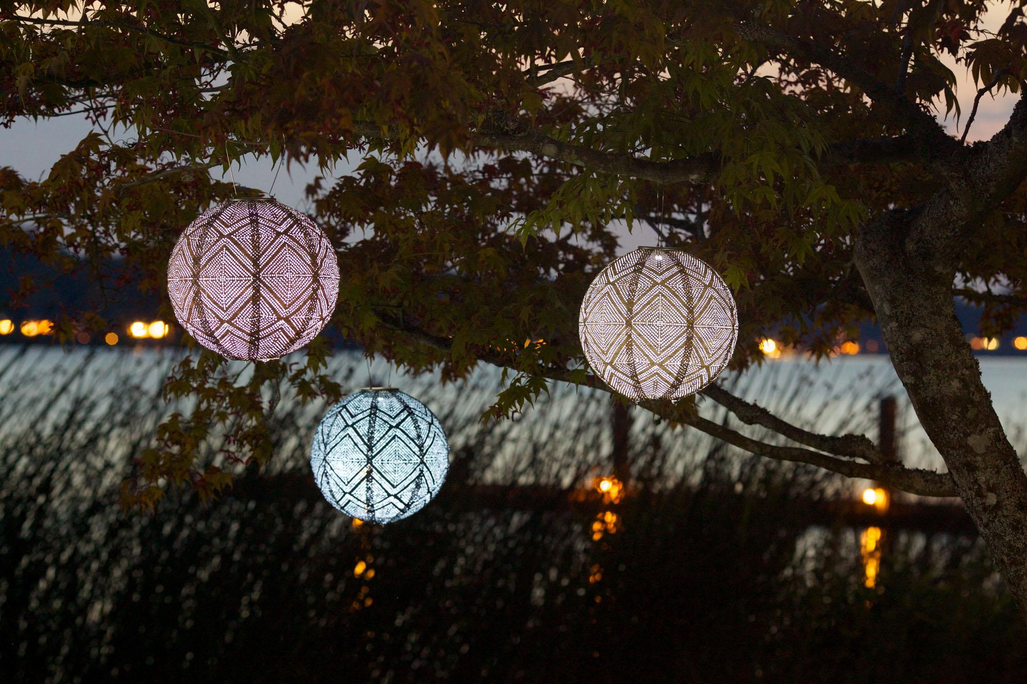 "soji stella market solar lantern, 12"""