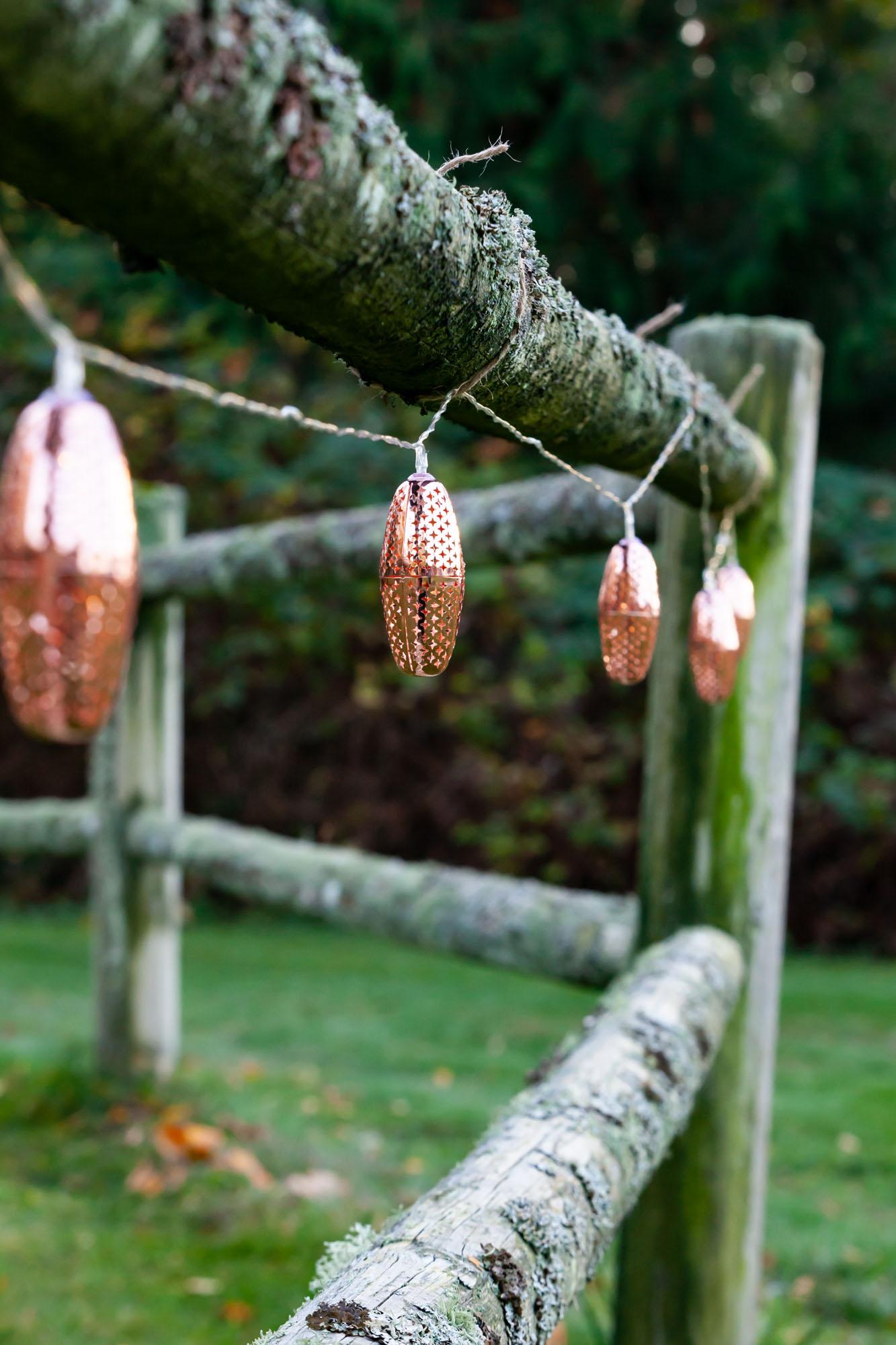 solar strings lights, marrakesh metal, copper