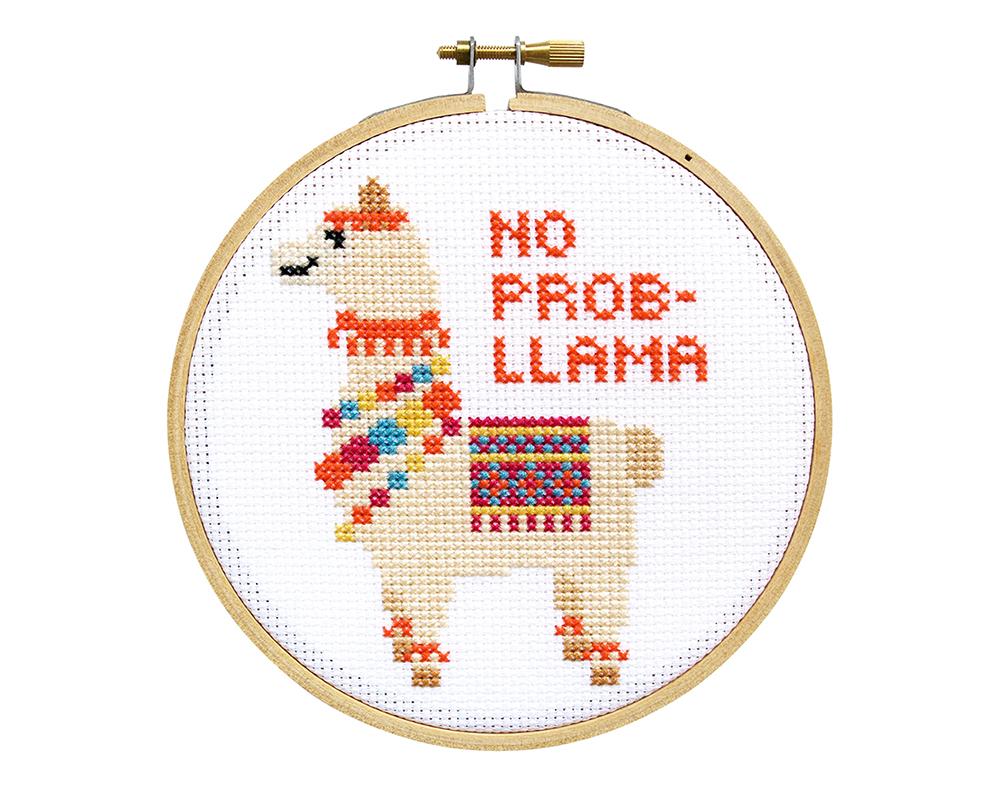 no prob-llama cross stitch kit
