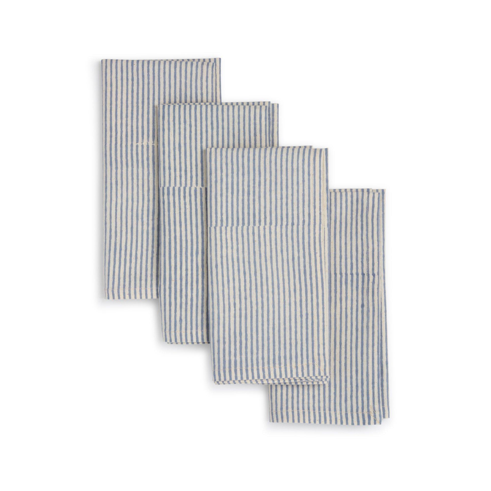 block-printed napkins, 4 set