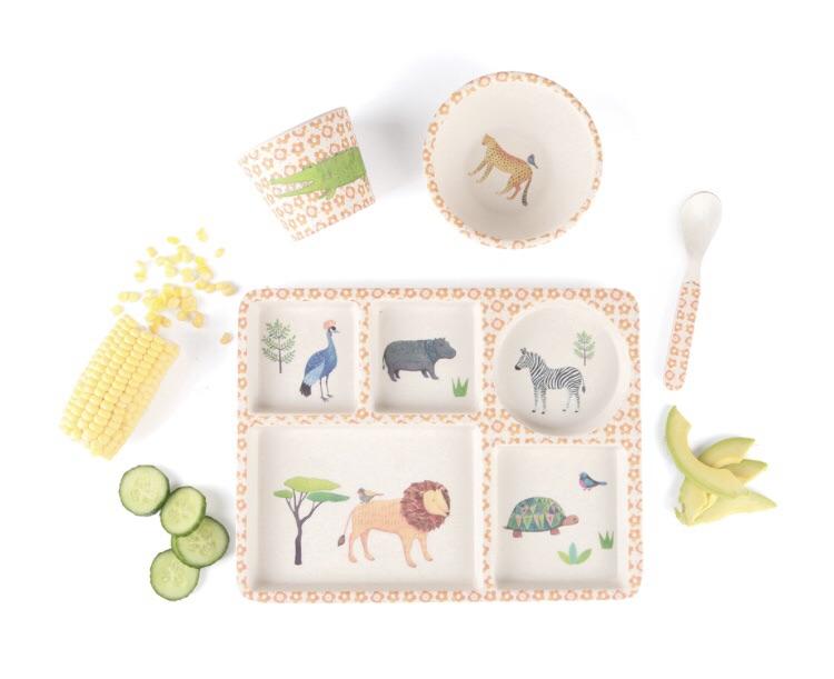 divided  plate set - on safari