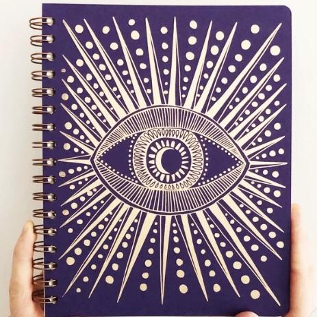 seeing eye journal  / purple
