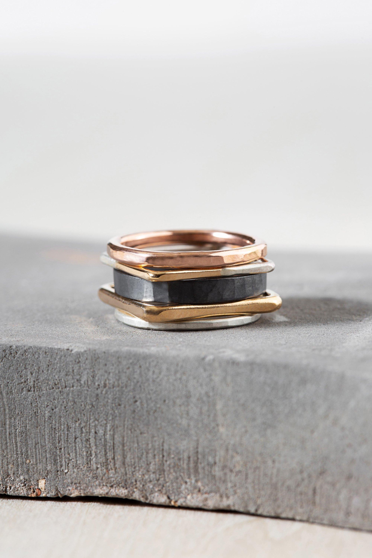 5  piece stacking ring set   size 6.5
