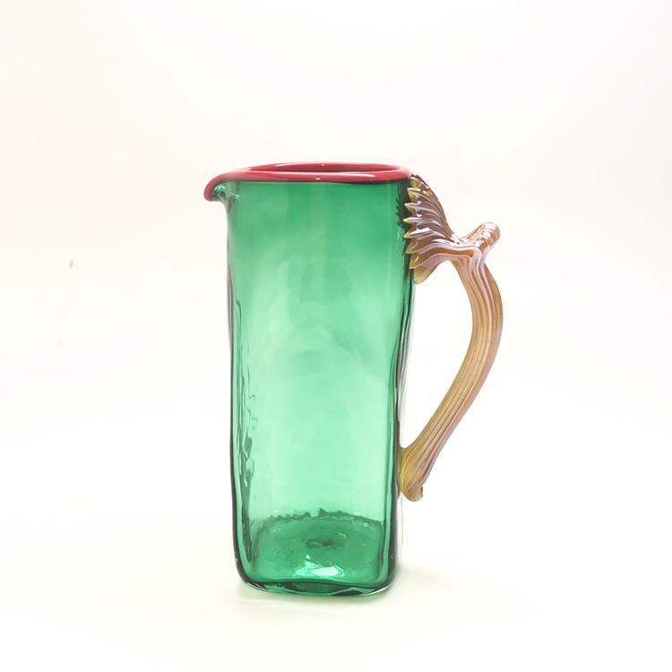 glass creamer | emerald