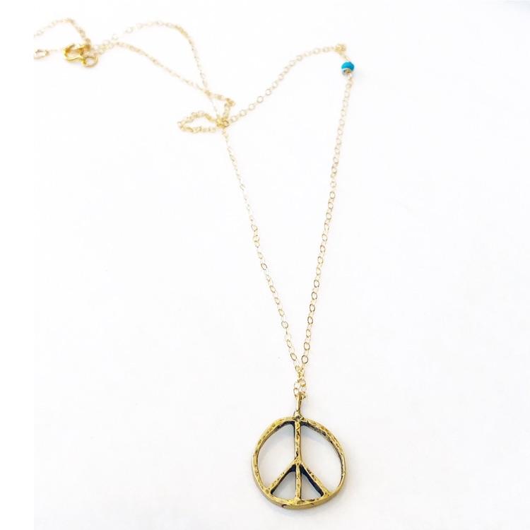 bronze  peace necklace