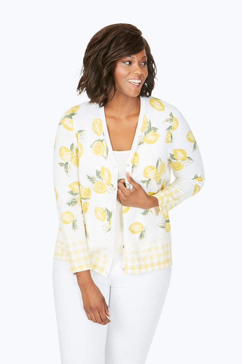 Veronika Plus Lemon Cardigan