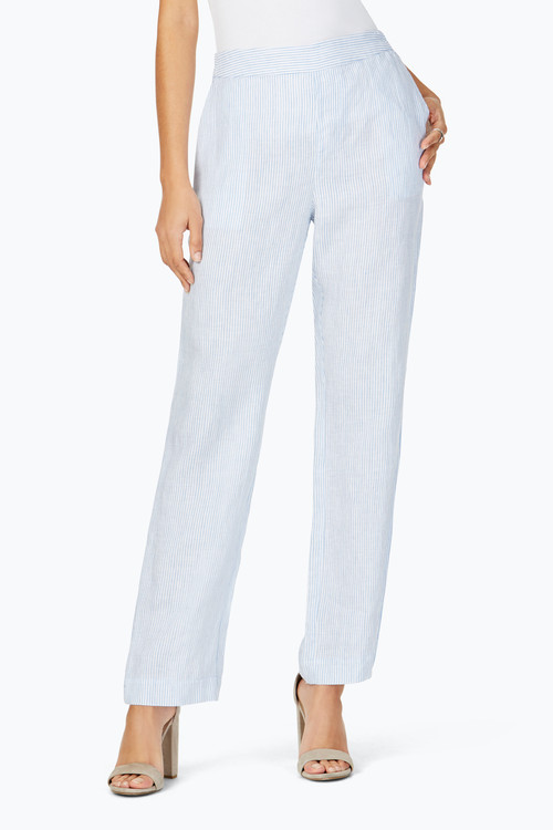 Livingston Stripe Linen Pant