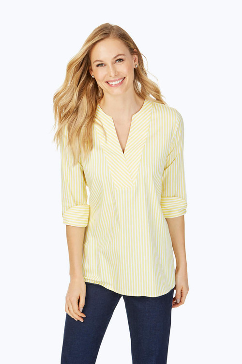 Vaughn Non-Iron Fresh Stripe Tunic