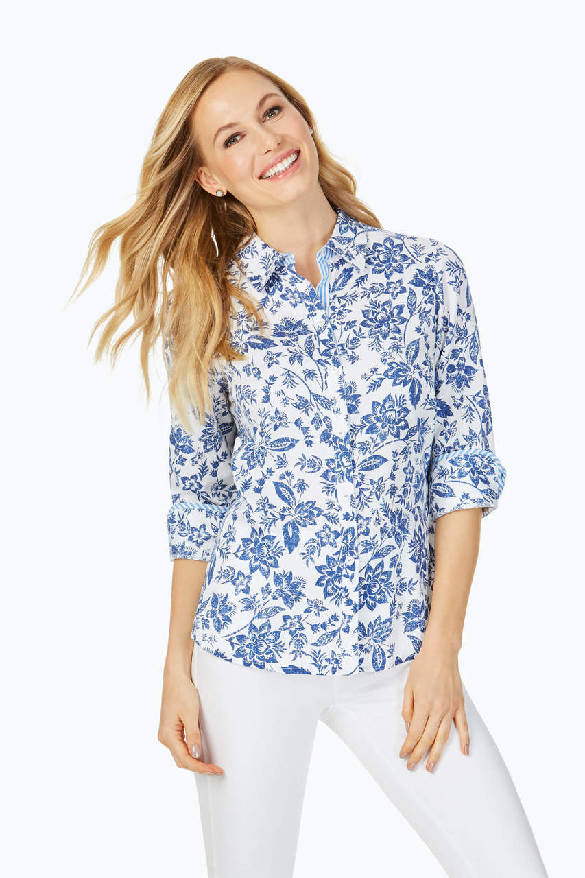 Womens Non Iron Wrinkle Free Blouses Shirts Sweaters Bottoms