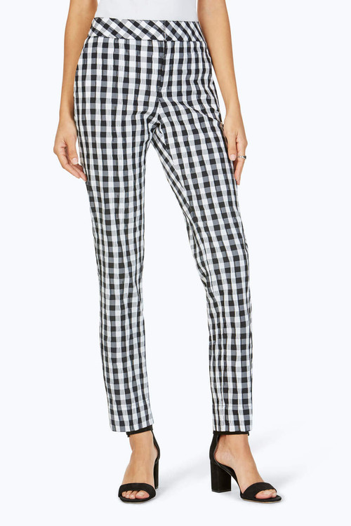The Weekender Crinkle Gingham Pant