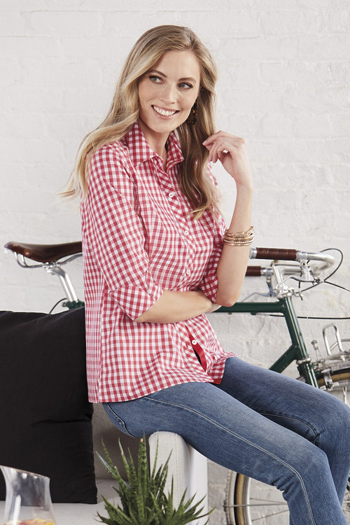 Morgan Non-Iron Sweet Gingham Shirt