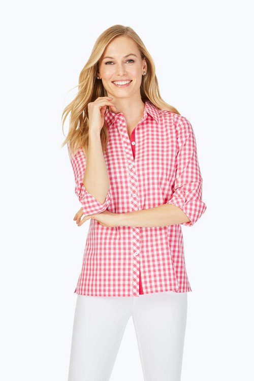 Morgan Petite Non-Iron Sweet Gingham Shirt